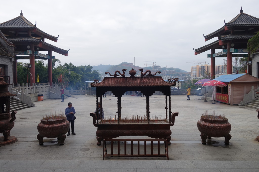 From the temple, overlooking Wuzhou